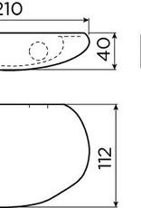 Cliff badkamer planchet 21 cm
