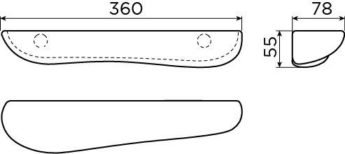 Cliff badkamer planchet 36 cm