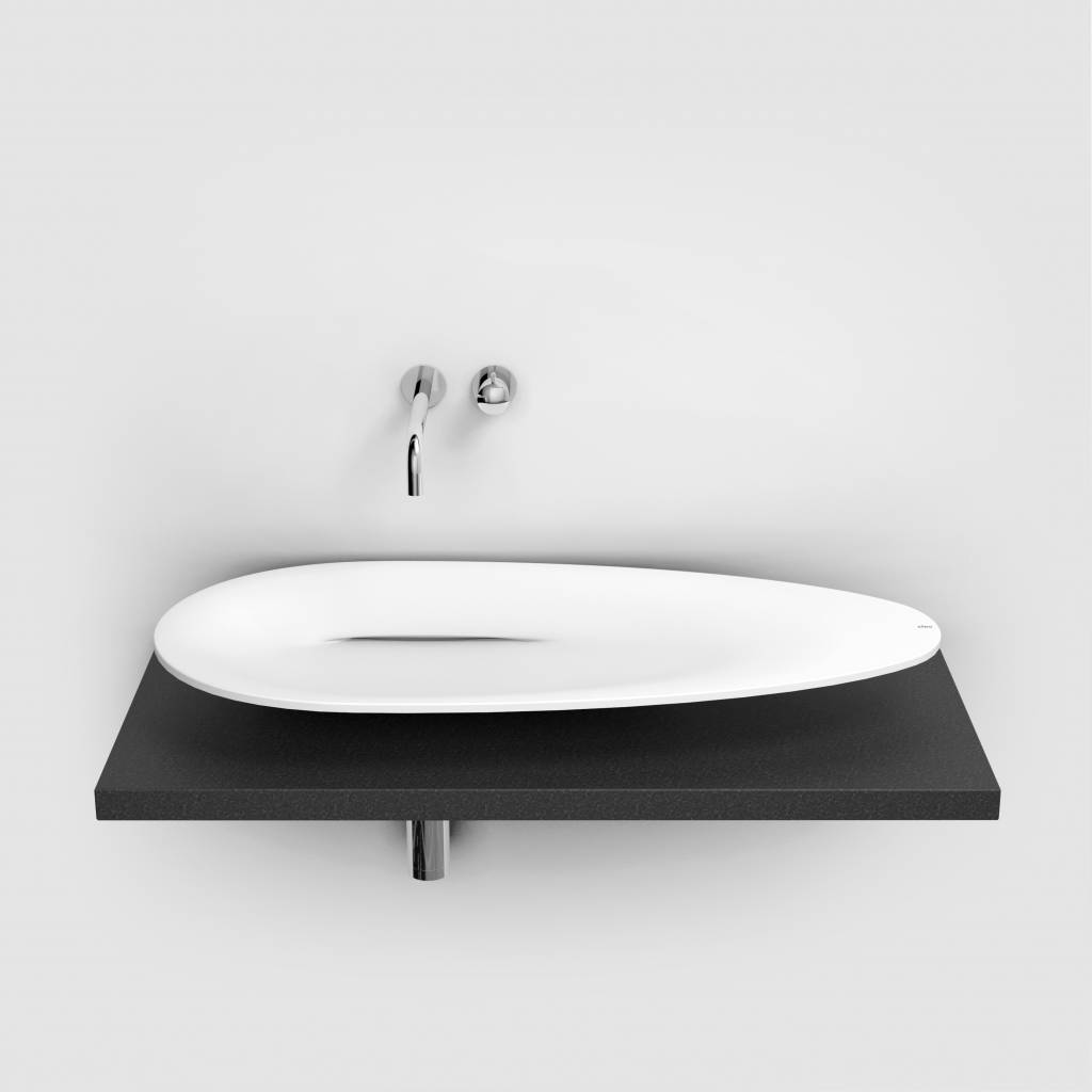First counter mounted washbasin