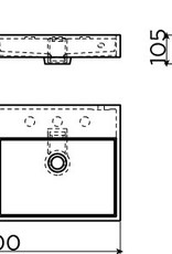 Wash Me dubbele wastafel 90 cm - uitverkoop -60%