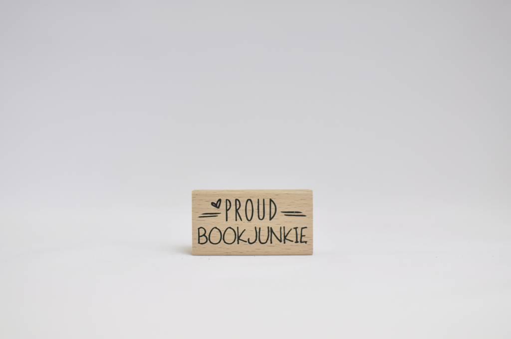 Rubber stamp: Proud bookjunkie