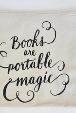 BB canvas case: Books are portable magic (large)