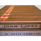 Juan Lopez Petit Corona (box of 25 cigars-CB)