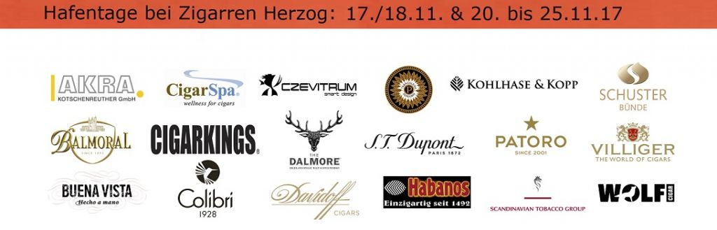 17./18.11. und 20. bis 25.11.2017: Hafentage bei Zigarren Herzog