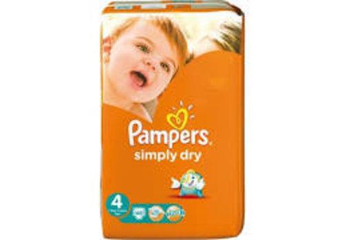 Pampers Luiers Simply Dry 4   46 stuks