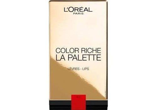 L'oreal Lip Palette Color Riche Red