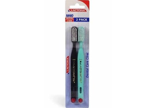 Lactona Tandenborstel M40 Medium 2-pack