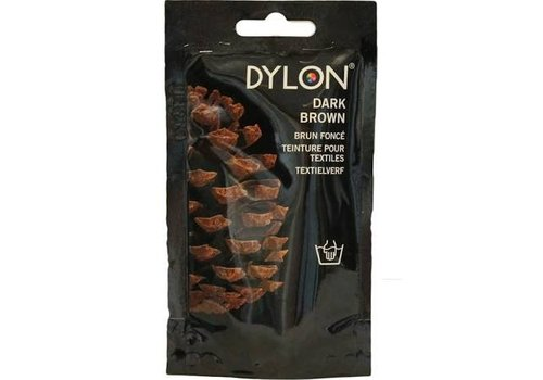 Dylon Textverf Hand Dark Brown 50g