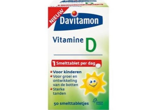 Davitamon Vitamine D Kind 50 smelttabl