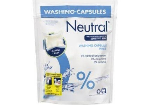 Neutral Wasmiddel Capsules Wit 10 stuks