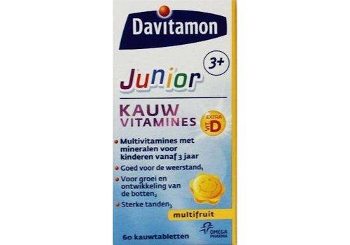 Davitamon Junior 3+ Kauw 60st Multifruit