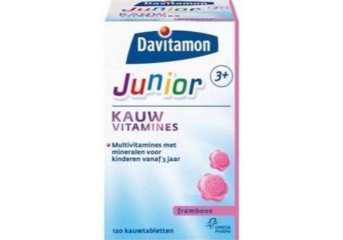 Davitamon Junior 3+ Kauw 120st Framboos
