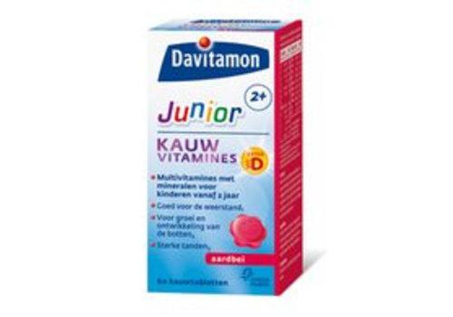 Davitamon Junior 2+ Kauw 60st Aardbei