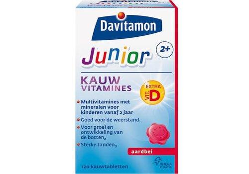 Davitamon Junior 2+ Kauw 120st Aardbei