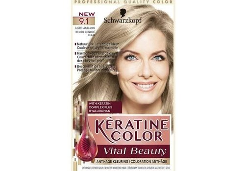Keratine Color 9.1 Licht Asblond