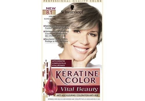 Keratine Color 8.1 Asblond