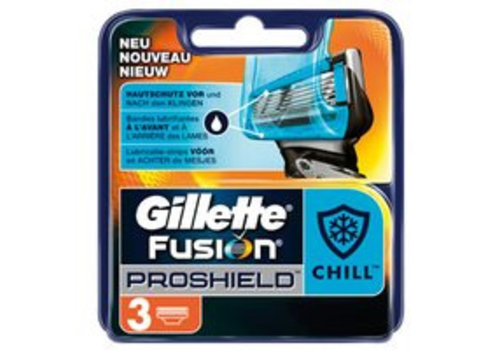 Gillette Fusion ProShield Mes Chill 3 st