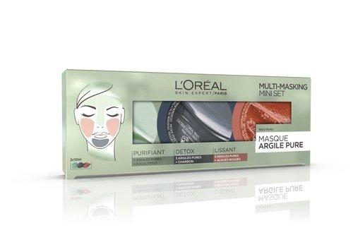 L'oreal Skin Masker Pure Clay Mini-Kit