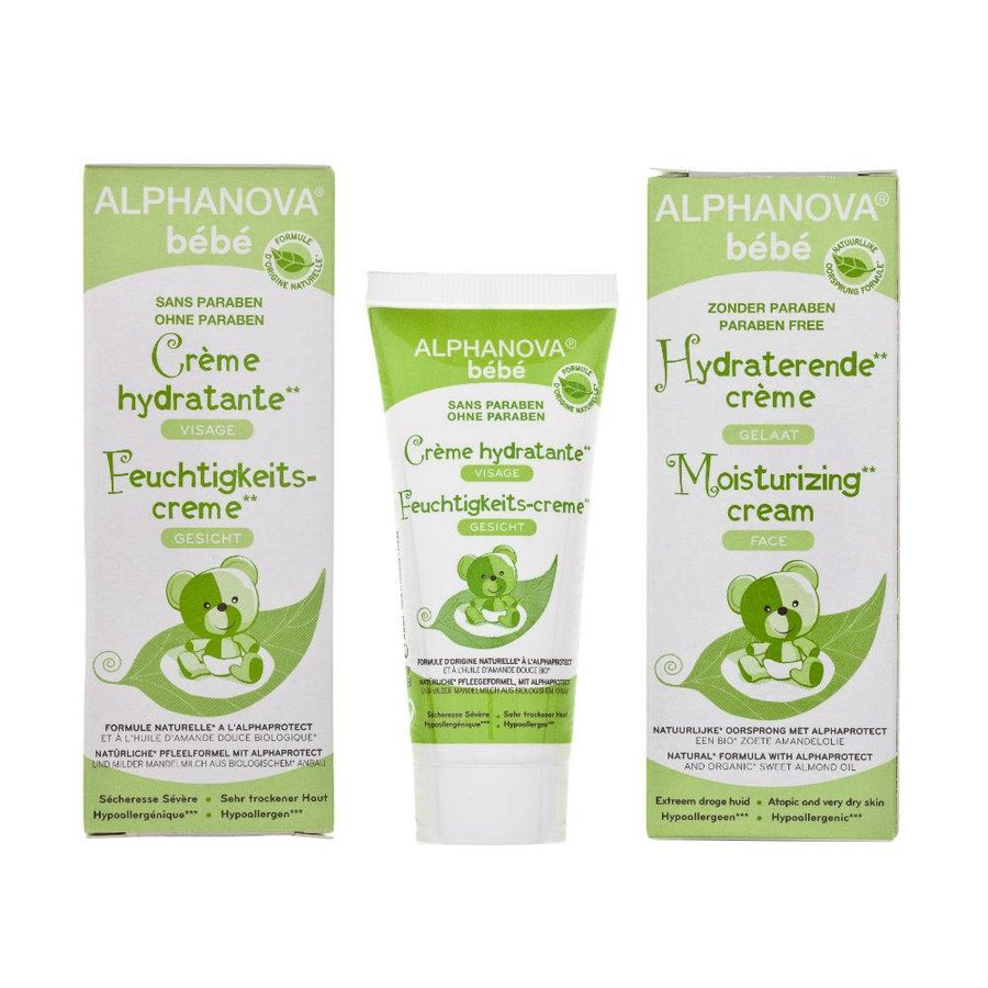 ALPHANOVA BABY Moisturizing Cream for mild dryness FACE BODY 100ml-1