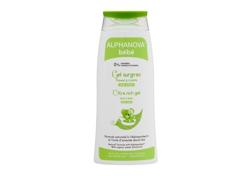 ALPHANOVA BABY Bath Gel Body and Hair for Atopic Skin 200ml