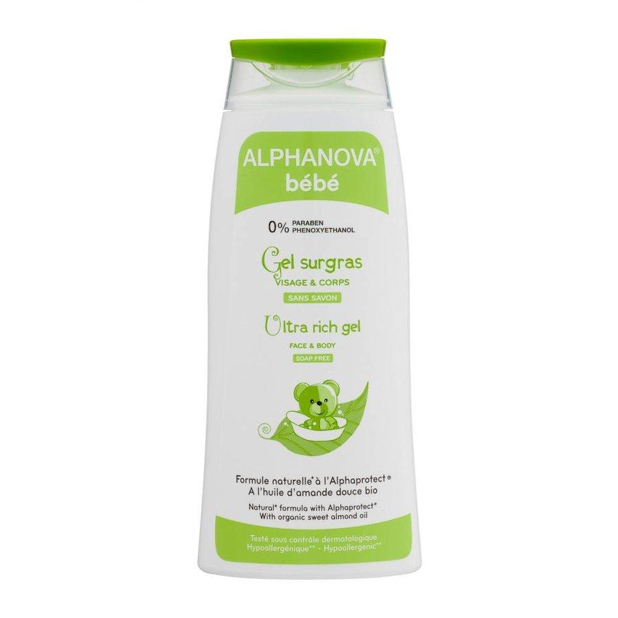 ALPHANOVA BABY Bath Gel Body and Hair for Atopic Skin 200ml