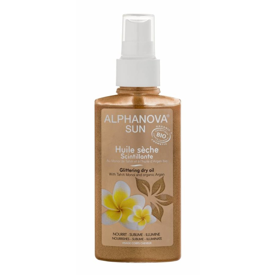 ALPHANOVA SUN BIO Glittering Dry Oil Spray 125ml-1