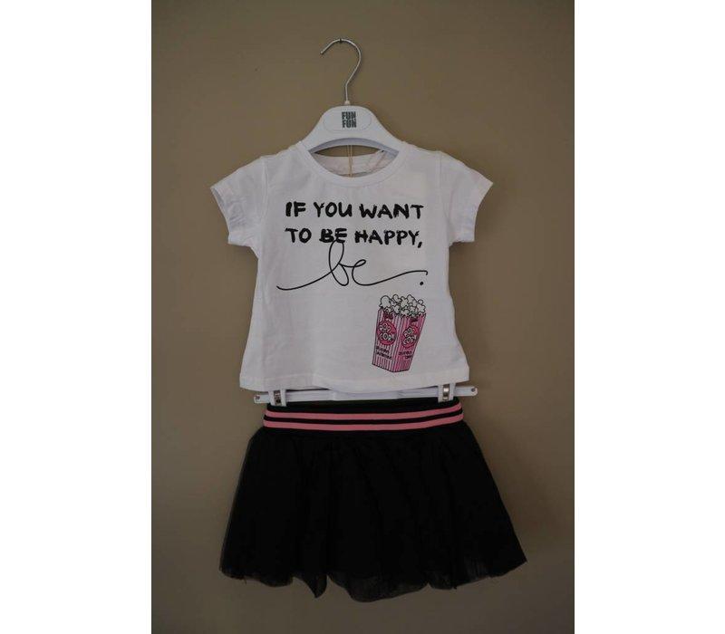 T-Shirt Wit Roze