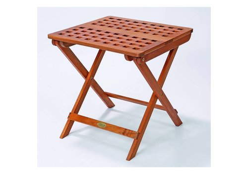 Cattie vierkante rooster klaptafel - hardhout