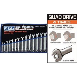 SP Tools - Nautic line complete ringsteeksleutelset Quad drive