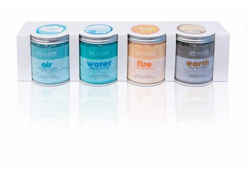 AQUAFINESSE AquaFinesse SPA DE LUXE CRYSTALS 4X370g AIR/WATER/FIRE/EARTH