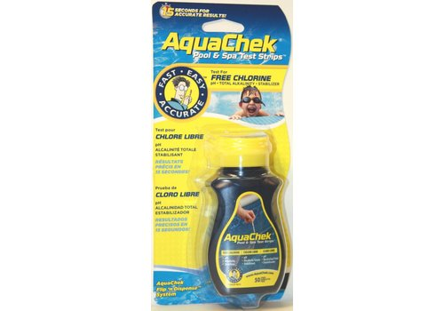 S.P.A.S. PRODUCTS AQUACHEK YELLOW 4-IN-1 Testsrips 50st.