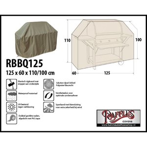 Raffles Covers RBBQ125,  125 x 60 H: 110 / 100cm, taupe