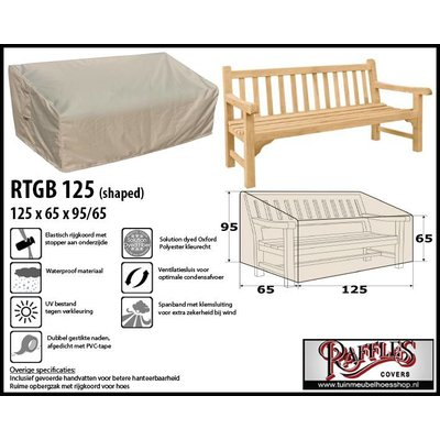 Raffles Covers Hoes voor tuinbank 125 x 65 H: 95/65cm