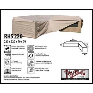 Hoes voor loungeset hoekbank, 220 x 220 x 90, H: 70 cm