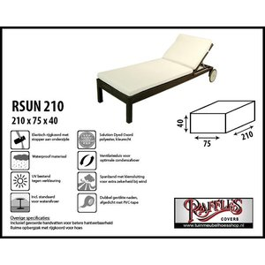 Raffles Covers RSUN210, 210 x 75 H: 40 cm, taupe.