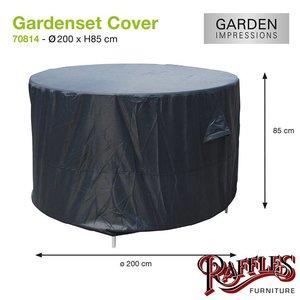 Hoes voor ronde tuinset, D: 200 cm & H: 85 cm