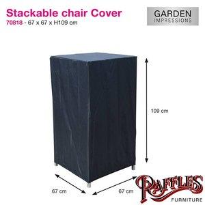 Hoes voor stapelstoel of verstelbare wickerstoel, 67 x 67 H: 109 cm