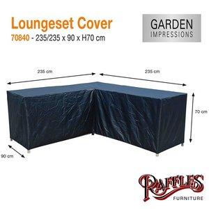 Hoes voor loungeset hoekbank, 235 x 235 H: 70 cm