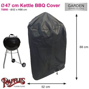 Barbecue hoes, Ø 47 cm H: 88 cm