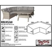 Raffles Covers Loungeset dining beschermhoes 260 x 260 x 95, H: 100 / 65 cm