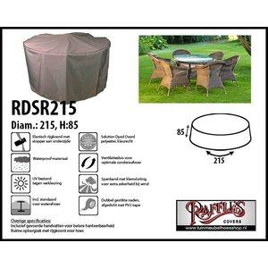 Tuinhoes voor ronde tafel met stoelen, D: 215 cm & H: 85 cm