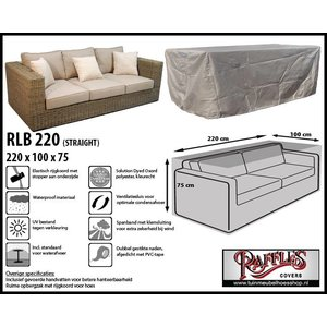 Raffles Covers RLB220straight, 220 x 100 H: 75 cm, taupe