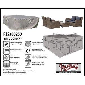 Tuinhoes loungeset, 300 x 250 H: 70 cm