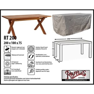 Raffles Covers RT200, 200 x 100 H: 75 cm, taupe.