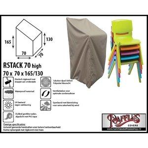 Beschermhoes voor stapelstoelen, 70 x 70 H: 165 cm taupe