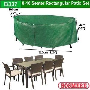 Hoes voor tuintafel met stoelen, 320 x 190 H: 94 cm