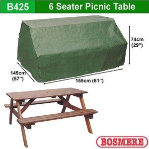 Beschermhoes voor picnictafel, 155 x 145 H: 74 cm