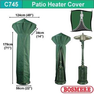 Beschermhoes voor terrasverwarming, D: 124/56 cm & H: 179 cm