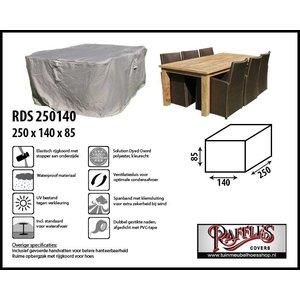 Afdekhoes tuintafel + stoelen, 250 x 140 H: 85 cm