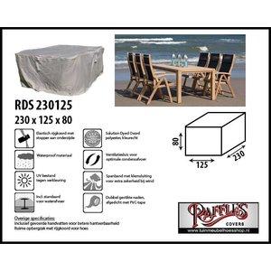 Beschermhoes tuinmeubelen tuinset; tafel + stoelen, 230 x 125 H: 80 cm